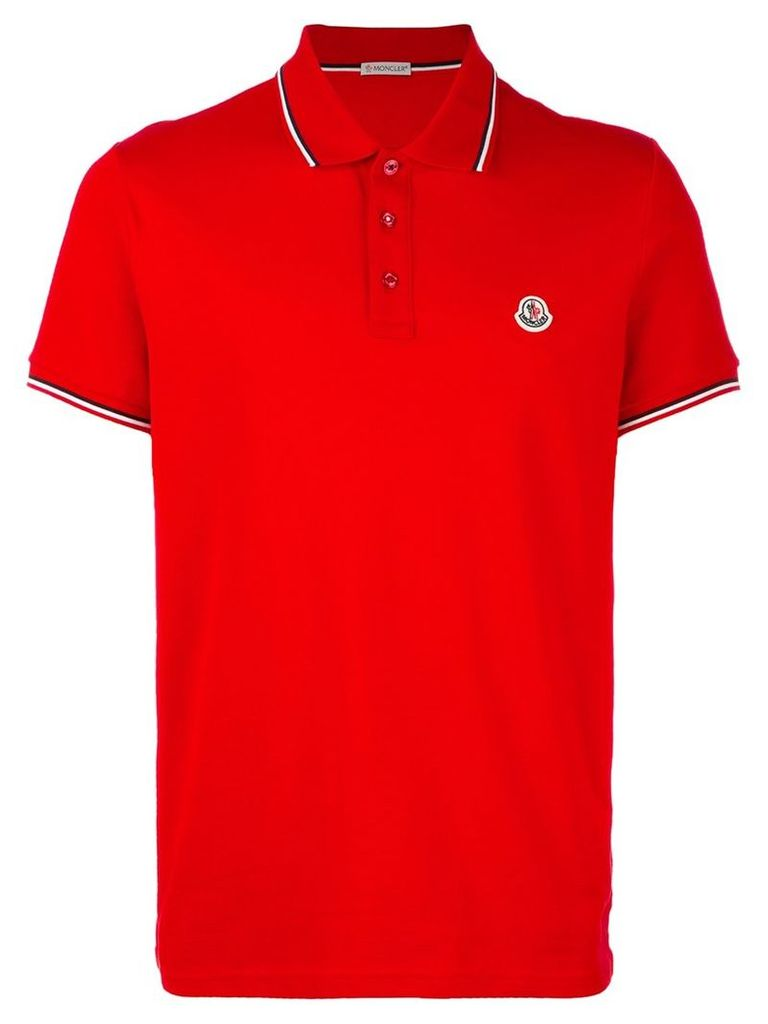 Moncler short sleeve polo shirt, Men's, Size: XXL, Red