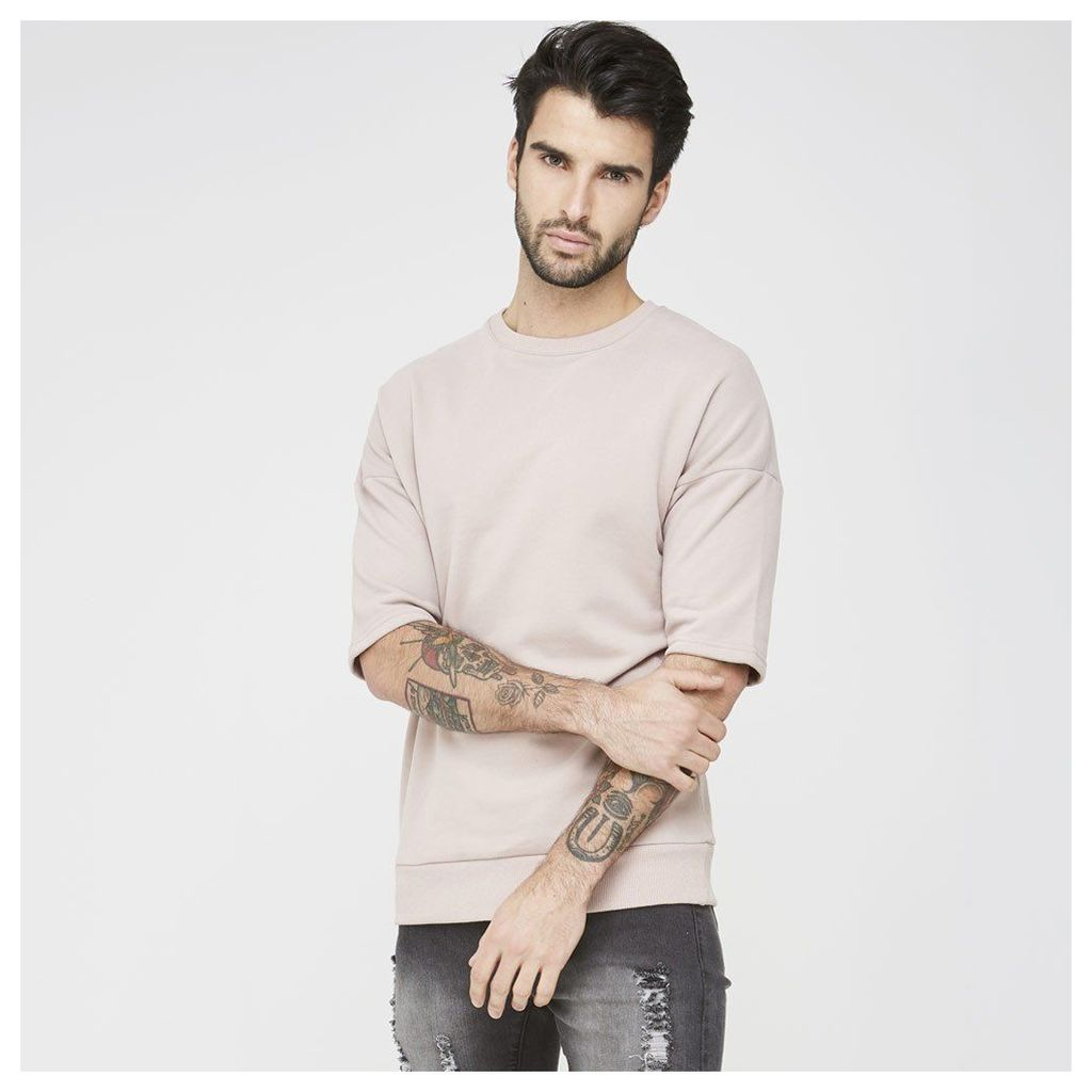 Maniere De Voir; Short Sleeve Jumper - Dusty Pink