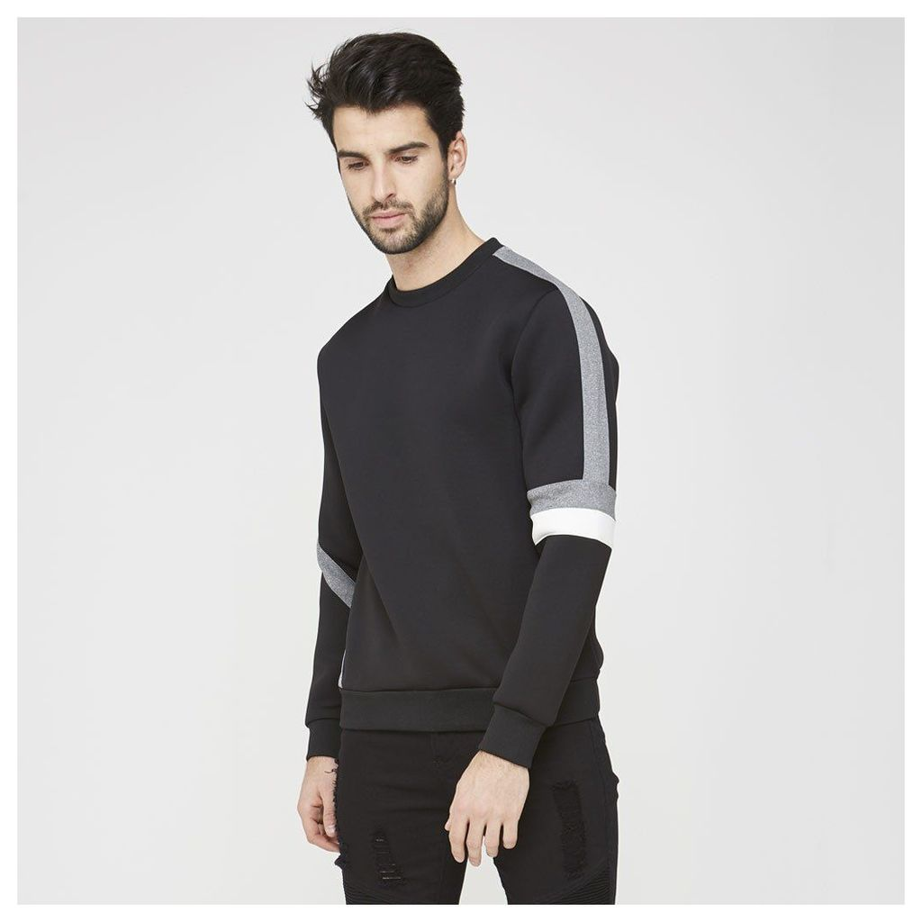 Maniere De Voir; Neoprene Panel Jumper - Black/Grey