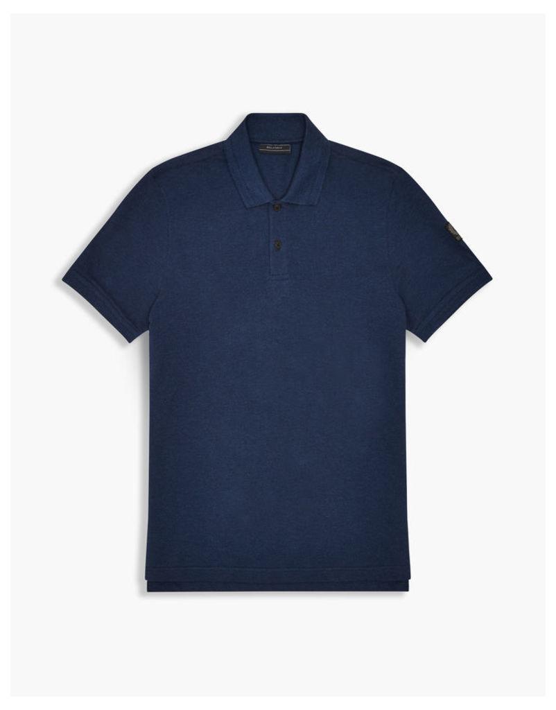 Belstaff Granard Polo Shirt Bright Indigo Melange
