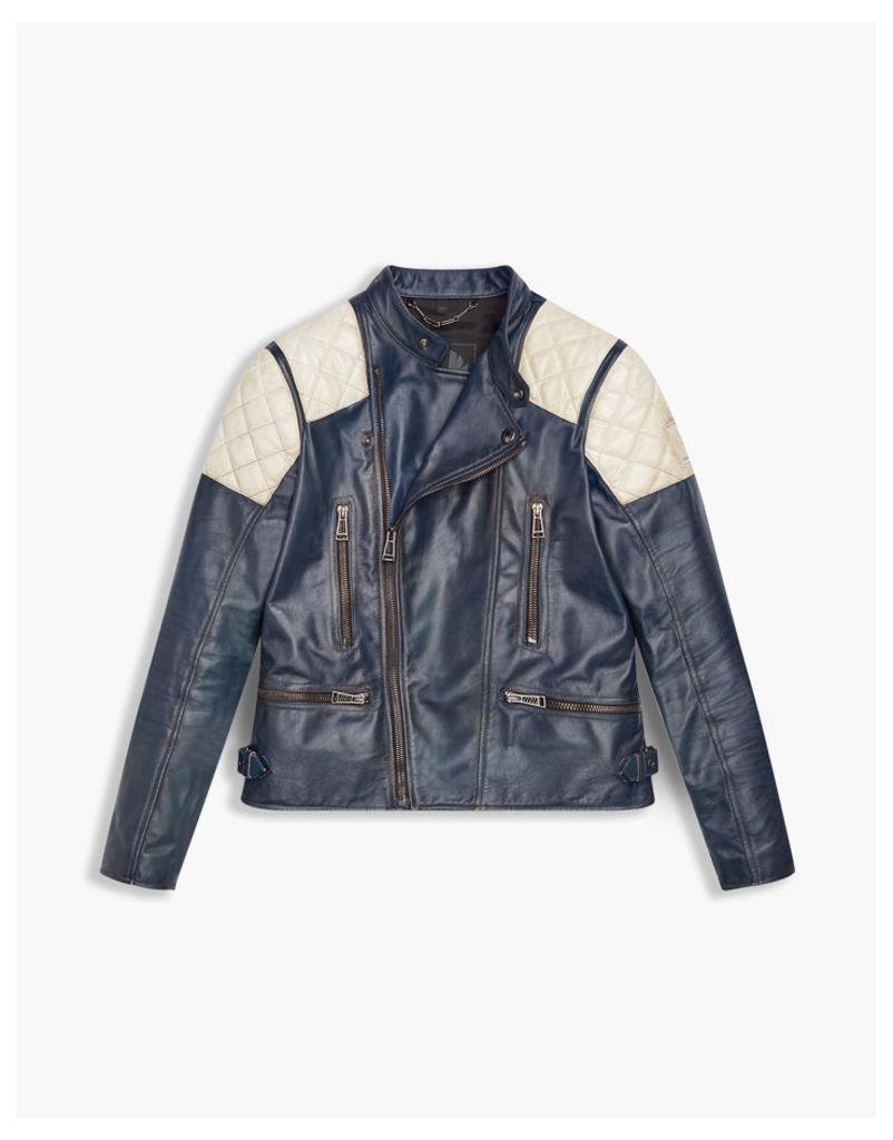 Belstaff Greensted Blouson Jacket Highway Blue/Ivory
