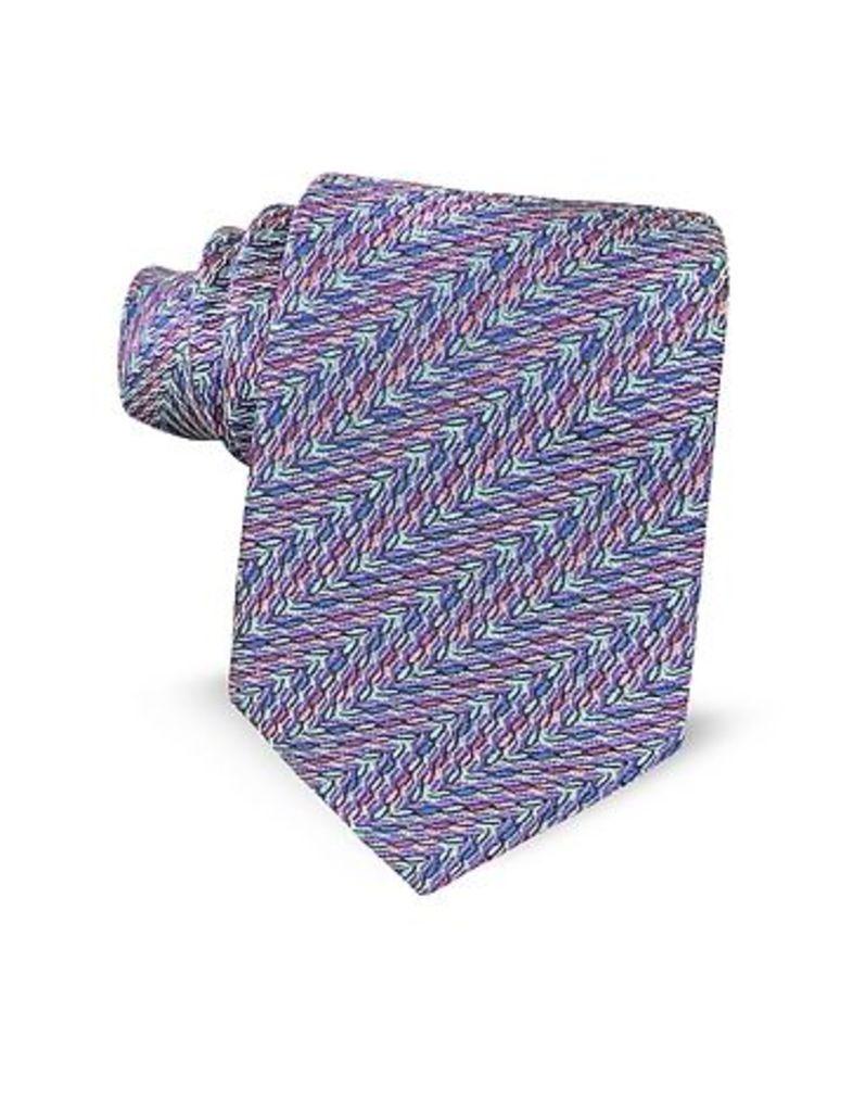 Missoni - Optical Printed Silk Narrow Tie