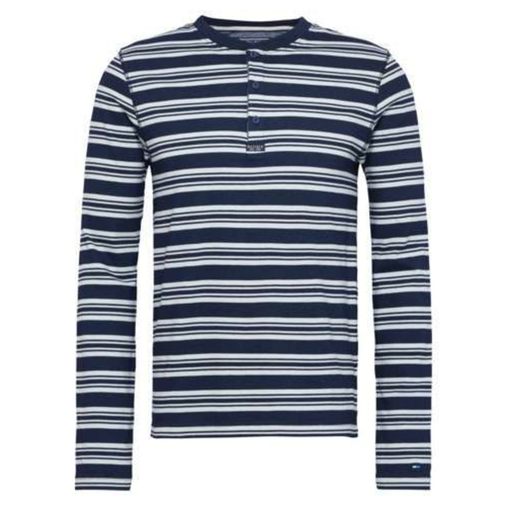 Men's Tommy Hilfiger Bob Stripe Henley Top, Navy