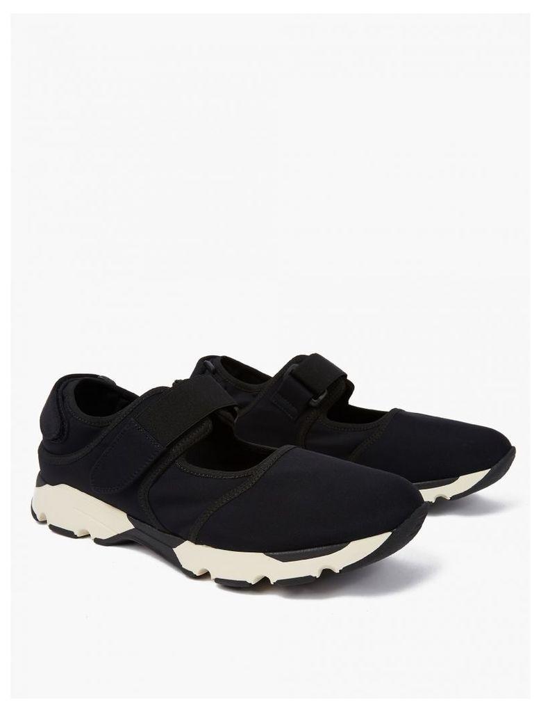 Black Cut-Out Neoprene Sneakers