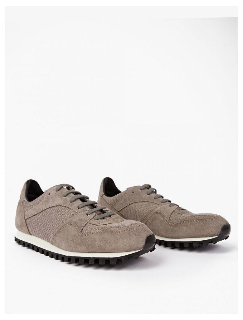 Warm Grey Suede Marathon Trail Sneakers