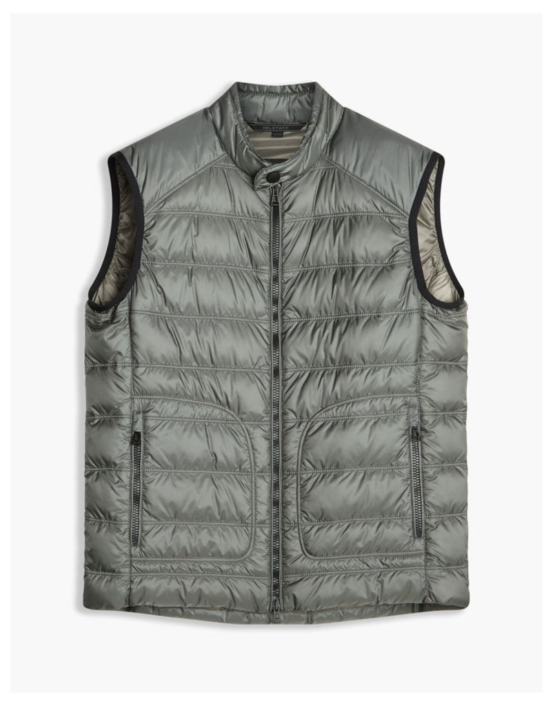 Belstaff Harbury Quilted Shell Gilet Ash Green