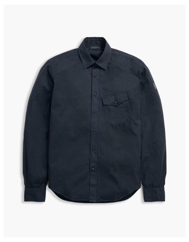 Belstaff Steadway Long Sleeve Shirt Navy Blue