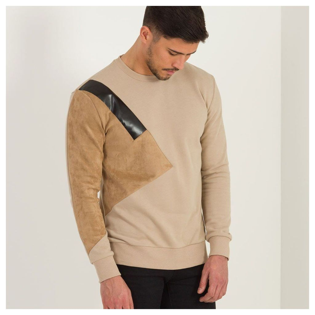 Maniere De Voir; Colour Block Jumper - Dark Beige