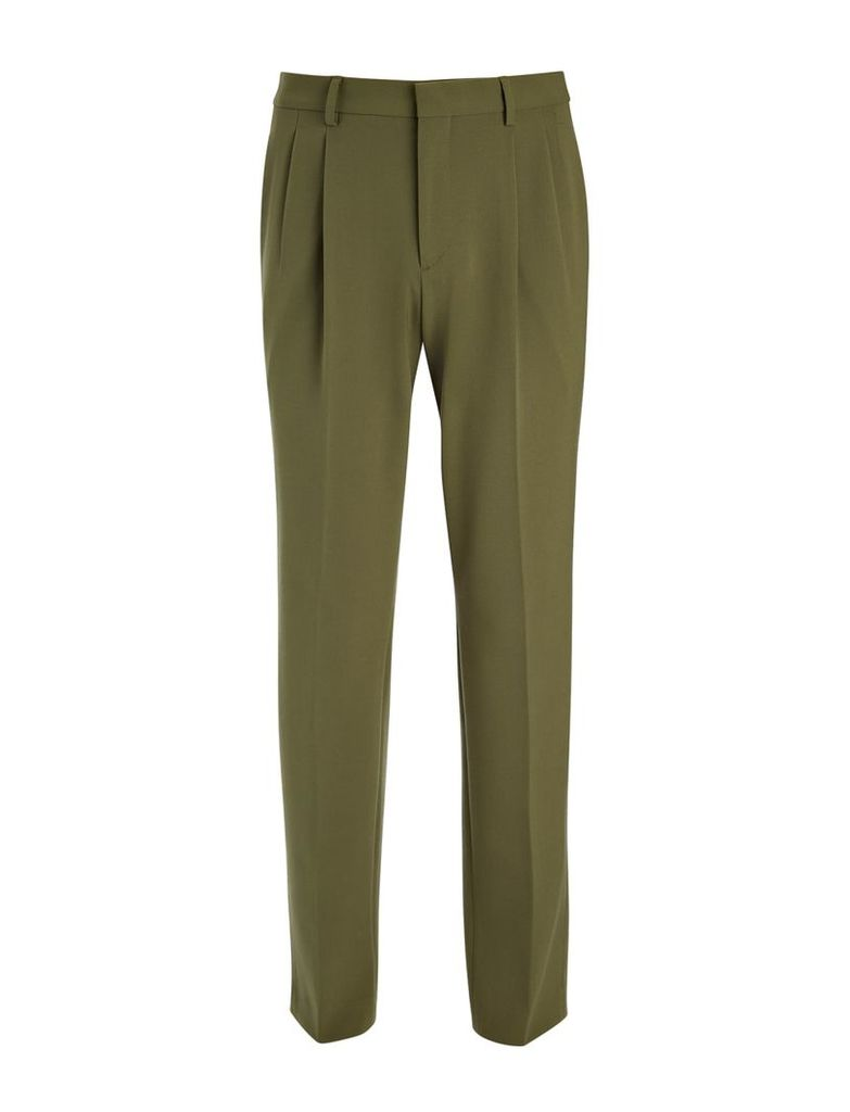 Techno Wool Stretch Clive Trousers in Khaki