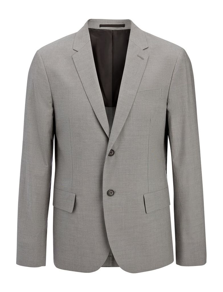 Cotton Suiting Wembley Jacket in Grey