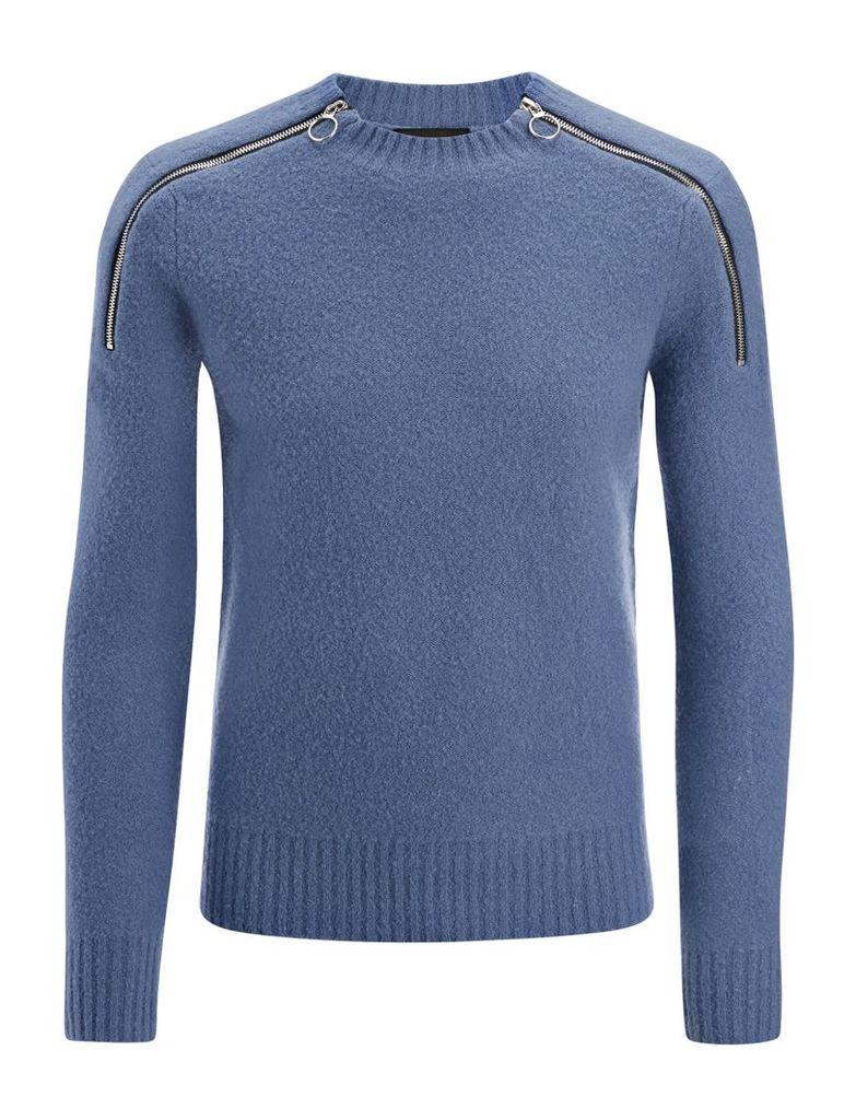 Boiled Knit Sweater in Steel