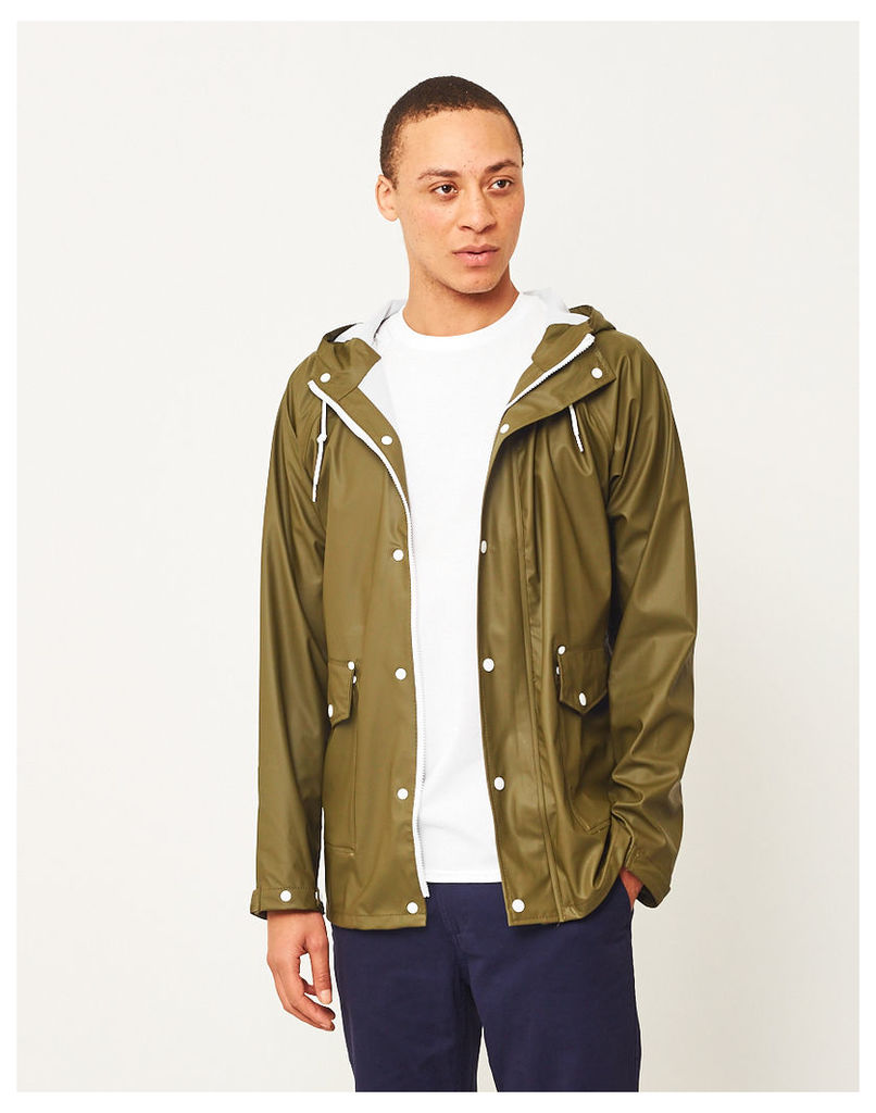 The Idle Man Rain Coat Green
