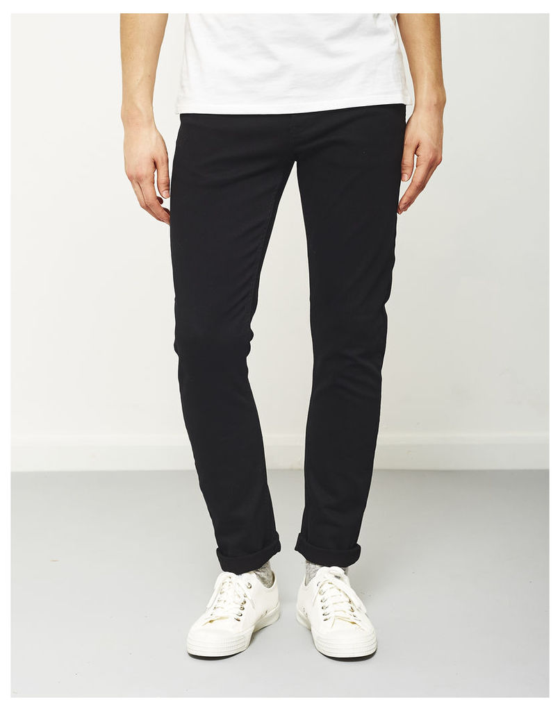 The Idle Man Slim Fit Jeans Black