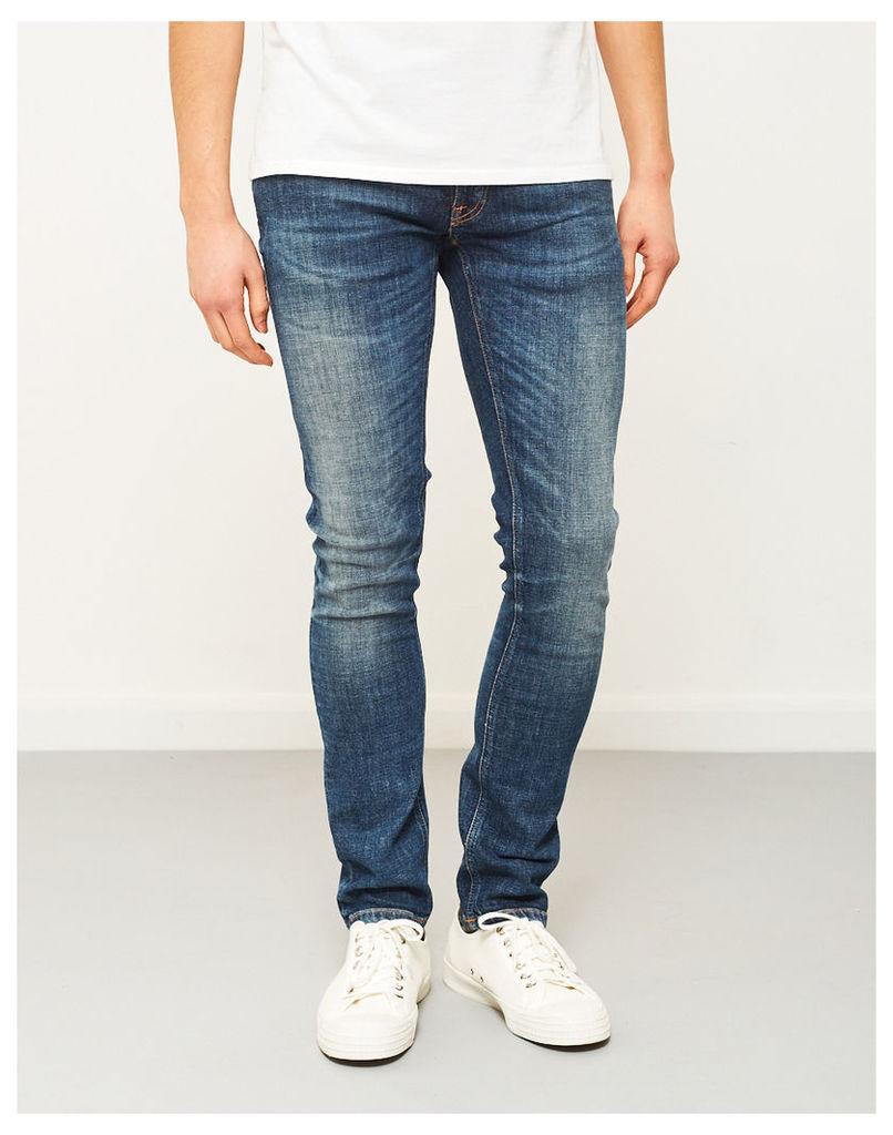 Nudie Jeans Co Long John Orange Tease Jeans Blue