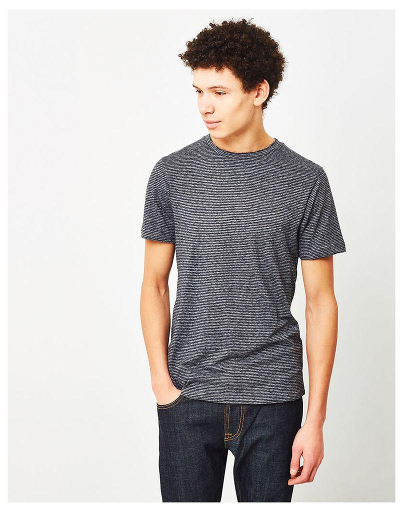 The Idle Man Salt & Pepper Ottoman T-Shirt Grey