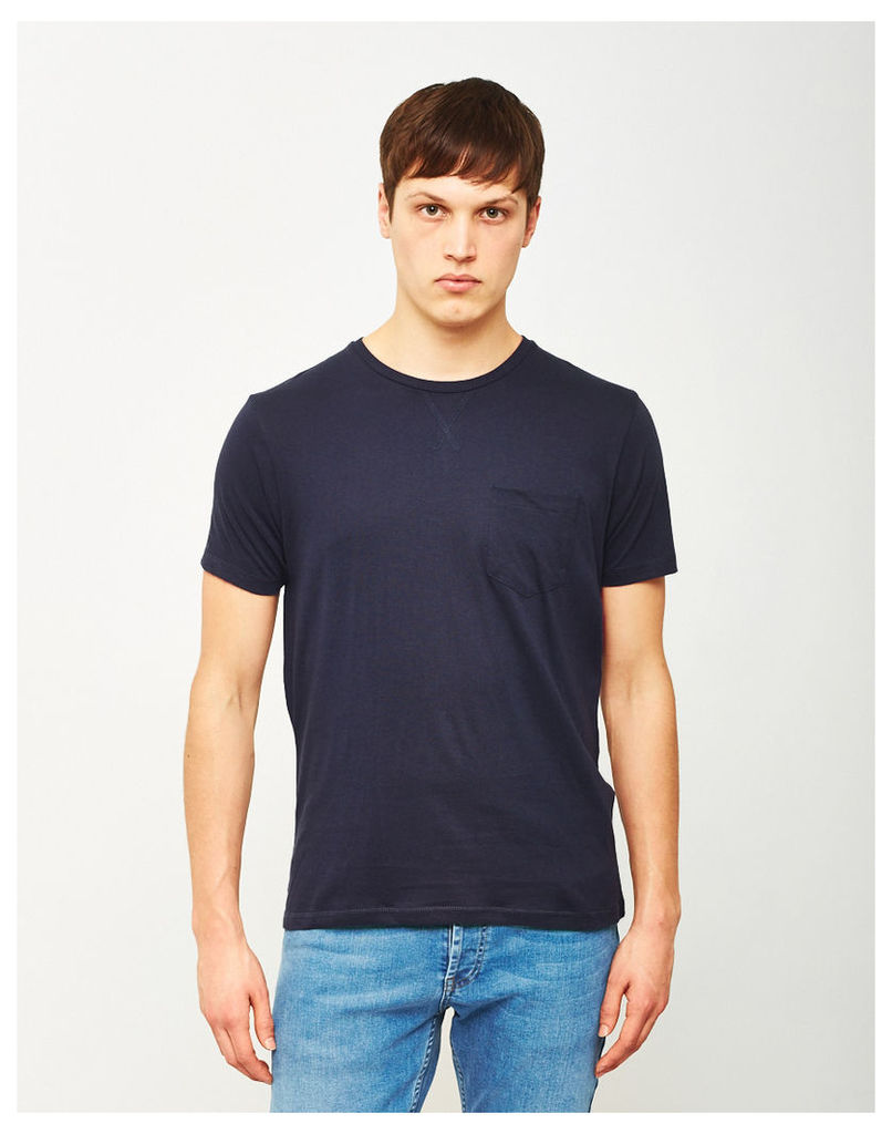 The Idle Man Basic Pocket T-Shirt Navy
