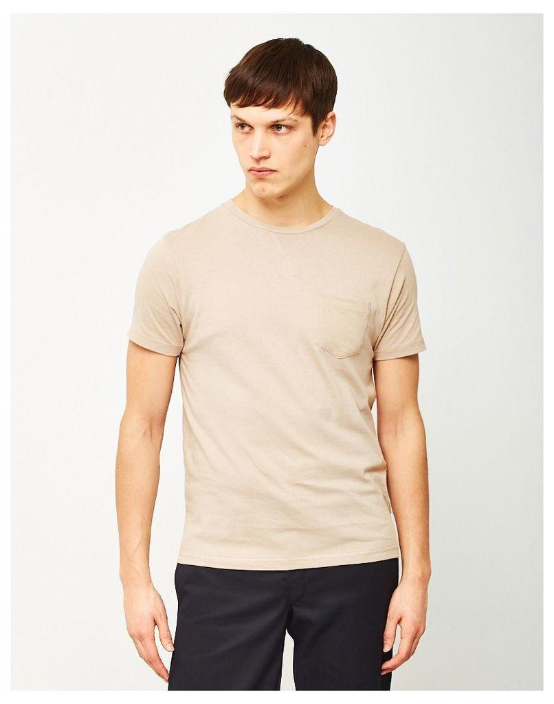 The Idle Man Basic Pocket T-Shirt Stone