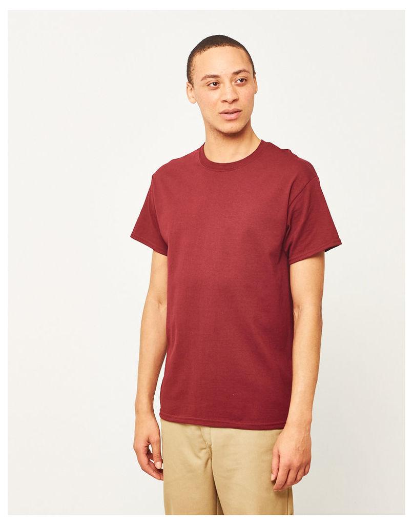 The Idle Man Classic T-Shirt Burgundy