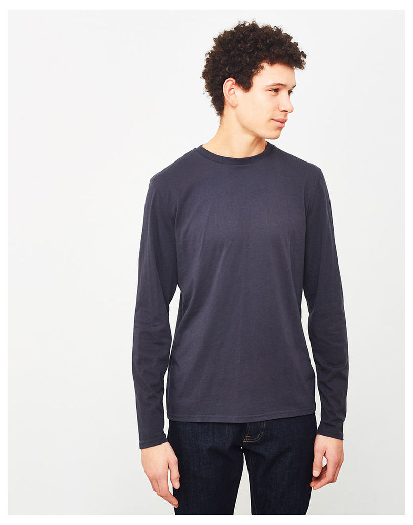 The Idle Man Perfect Long Sleeve T-Shirt Navy
