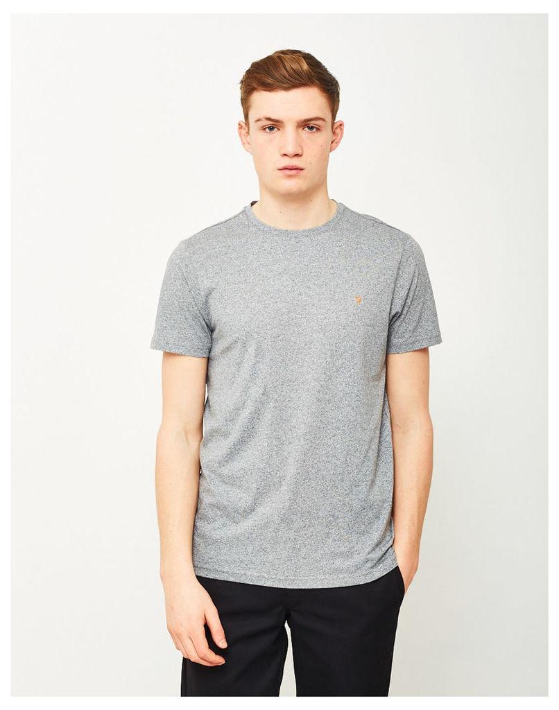 Farah Denny Marl Short Sleeve T-Shirt Grey