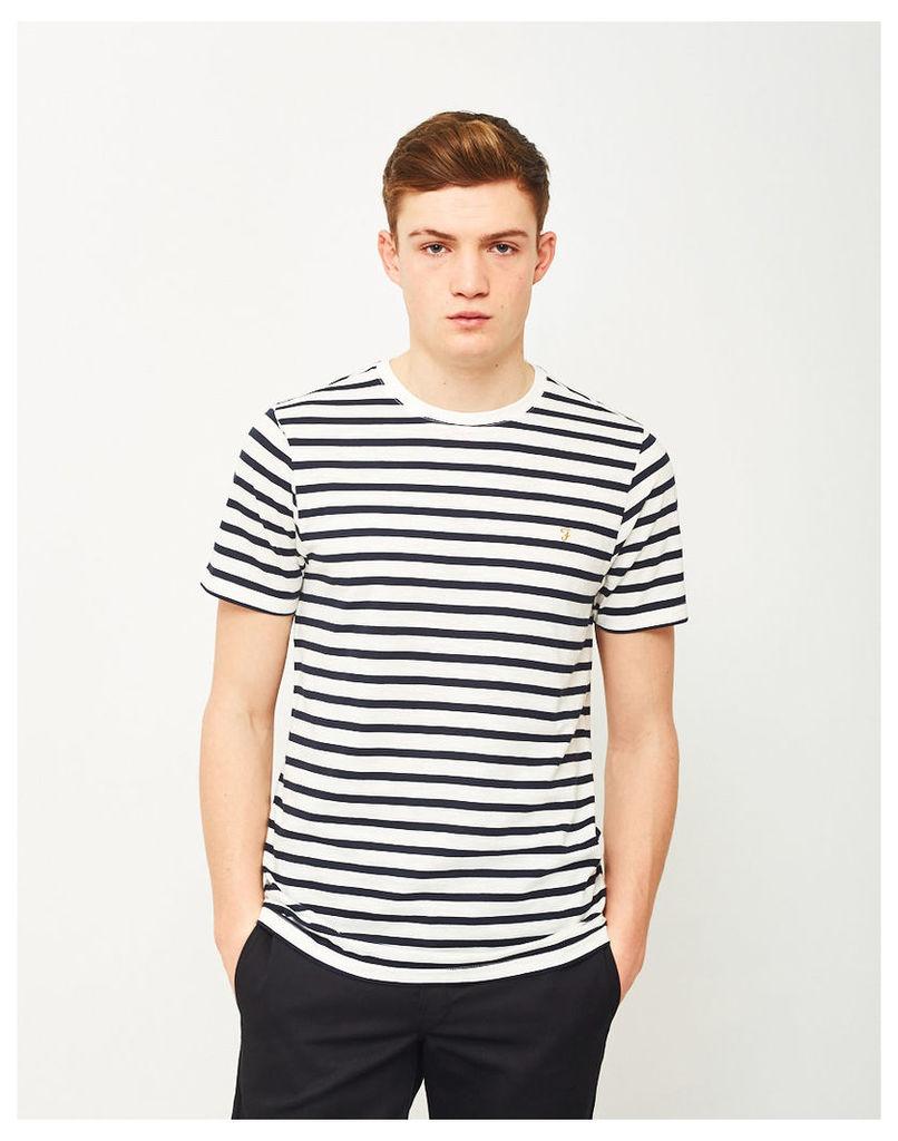 Farah Lennox Short Sleeve Stripe T-Shirt Navy