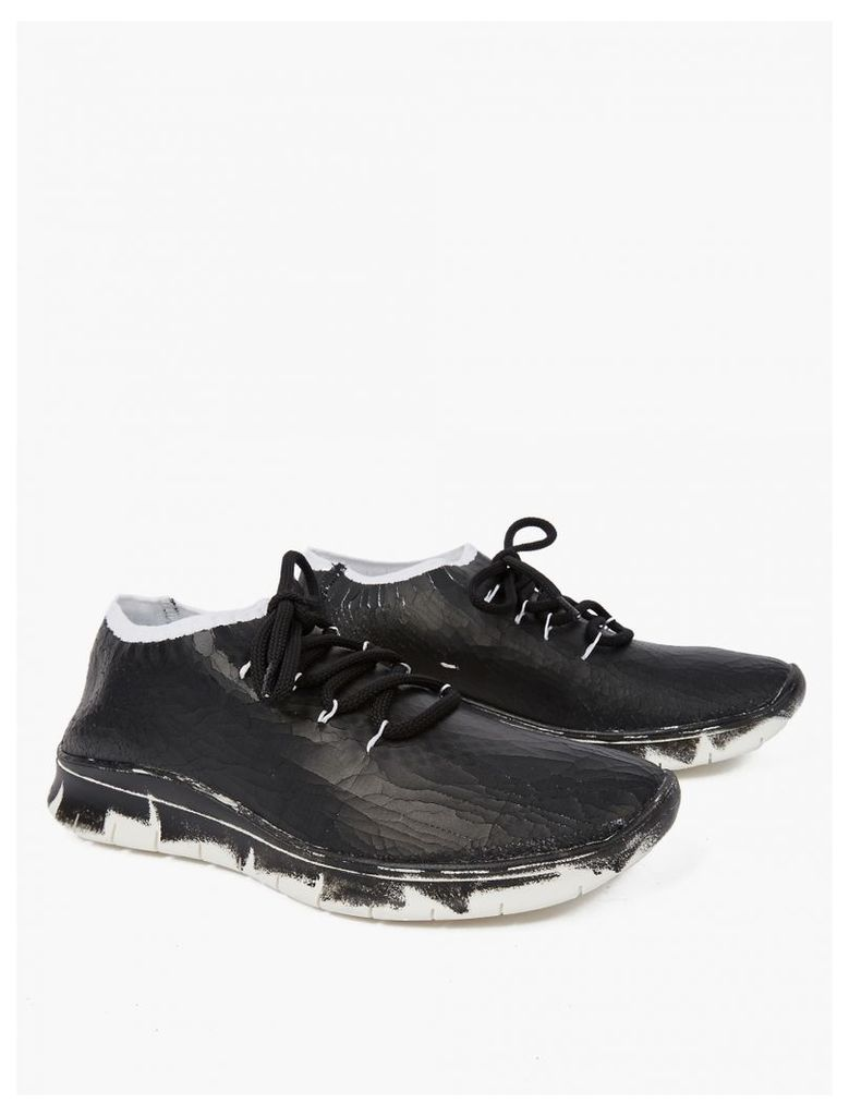 Black Painted Flyknit Sneakers