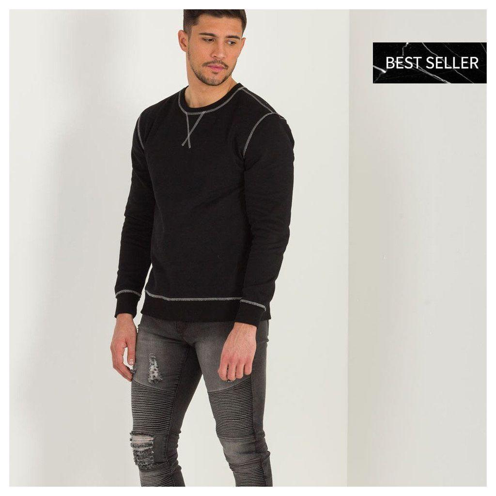 Maniere De Voir; Overlock Detail Jumper - Black