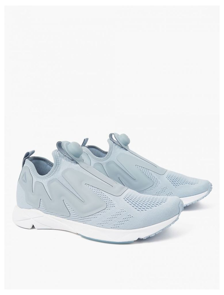 Grey Supreme Pump Engine Sneakers