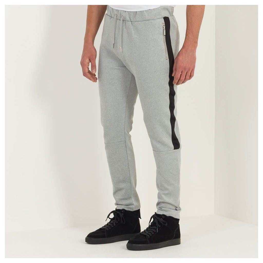 Maniere De Voir; Tracksuit Bottom with Stripe - Grey