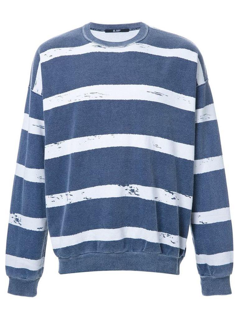 Hl Heddie Lovu striped sweatshirt, Men's, Size: Large, Blue