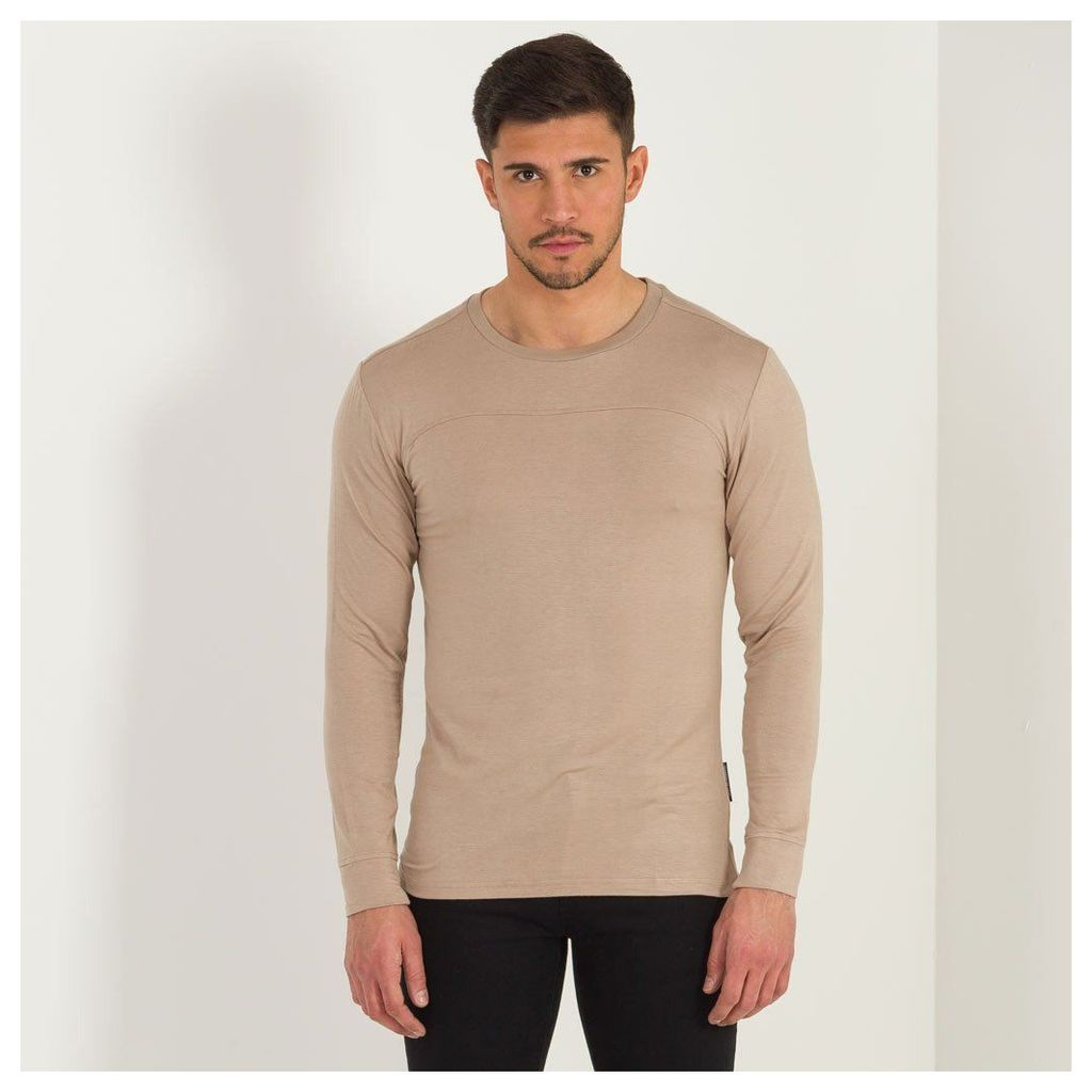 Maniere De Voir; Essential Top with Long-Sleeve - Beige
