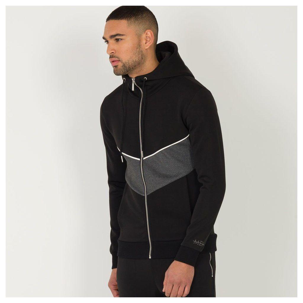 Maniere De Voir; Neoprene Tracksuit Jacket - Black