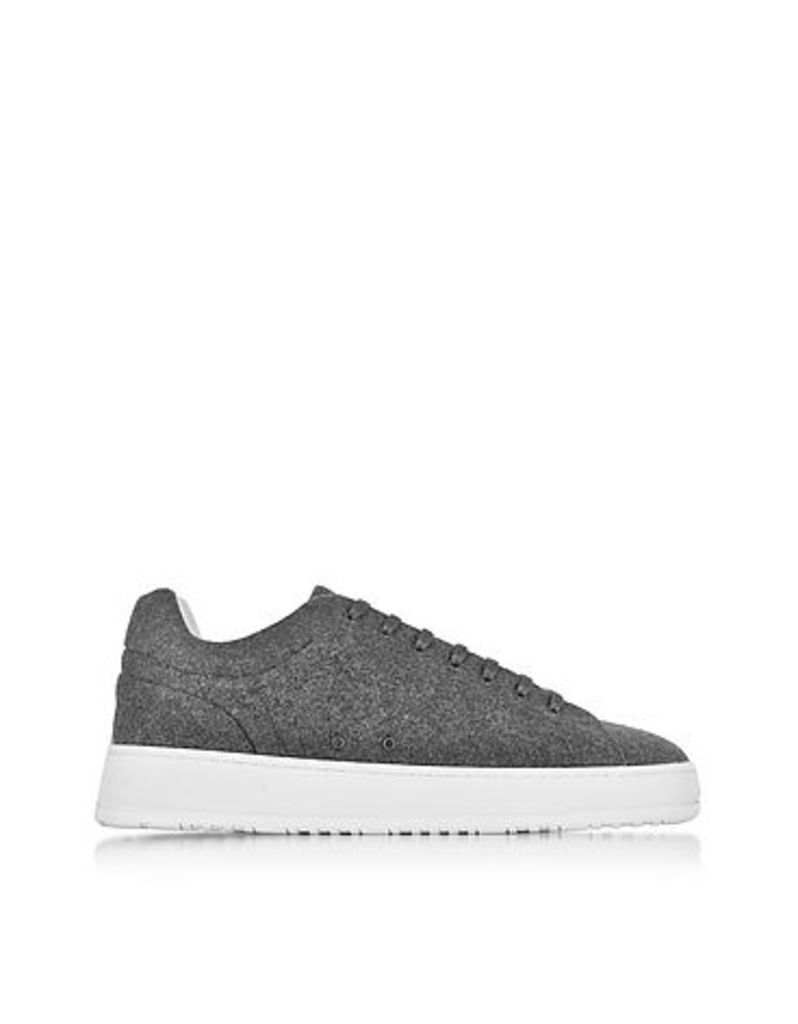 ETQ Amsterdam - Low 4 Ash Gray Wool Men's Sneaker