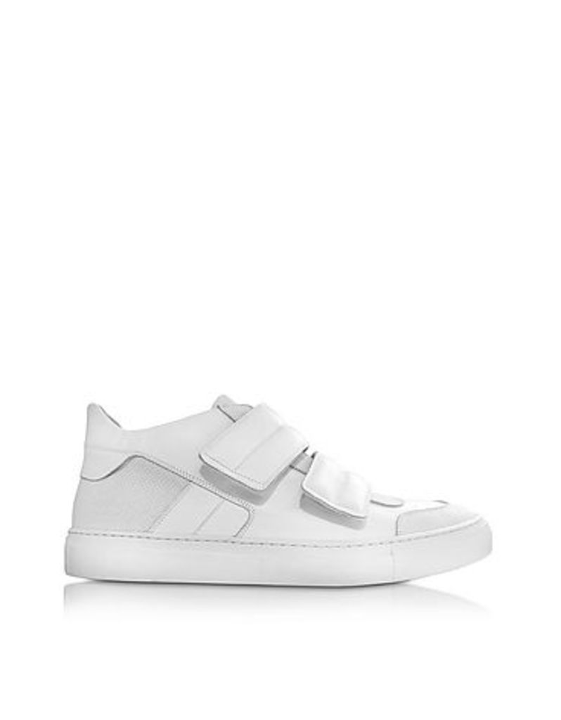 MM6 Maison Martin Margiela - White Leather Low Top Sneaker
