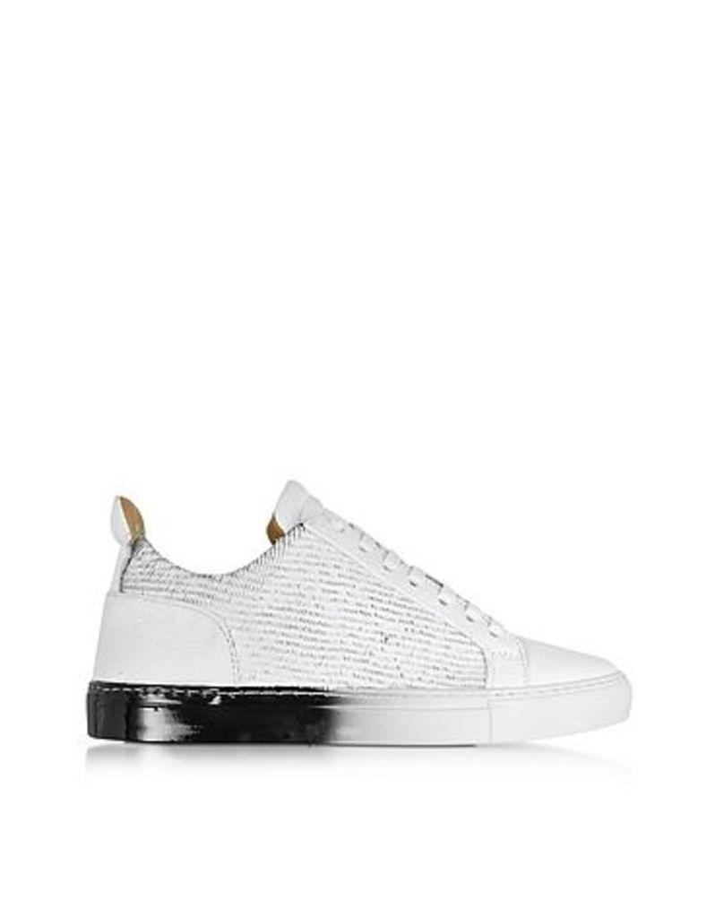 Ylati - Amalfi Low 2.0 White Laser Cut Leather Men's Sneaker