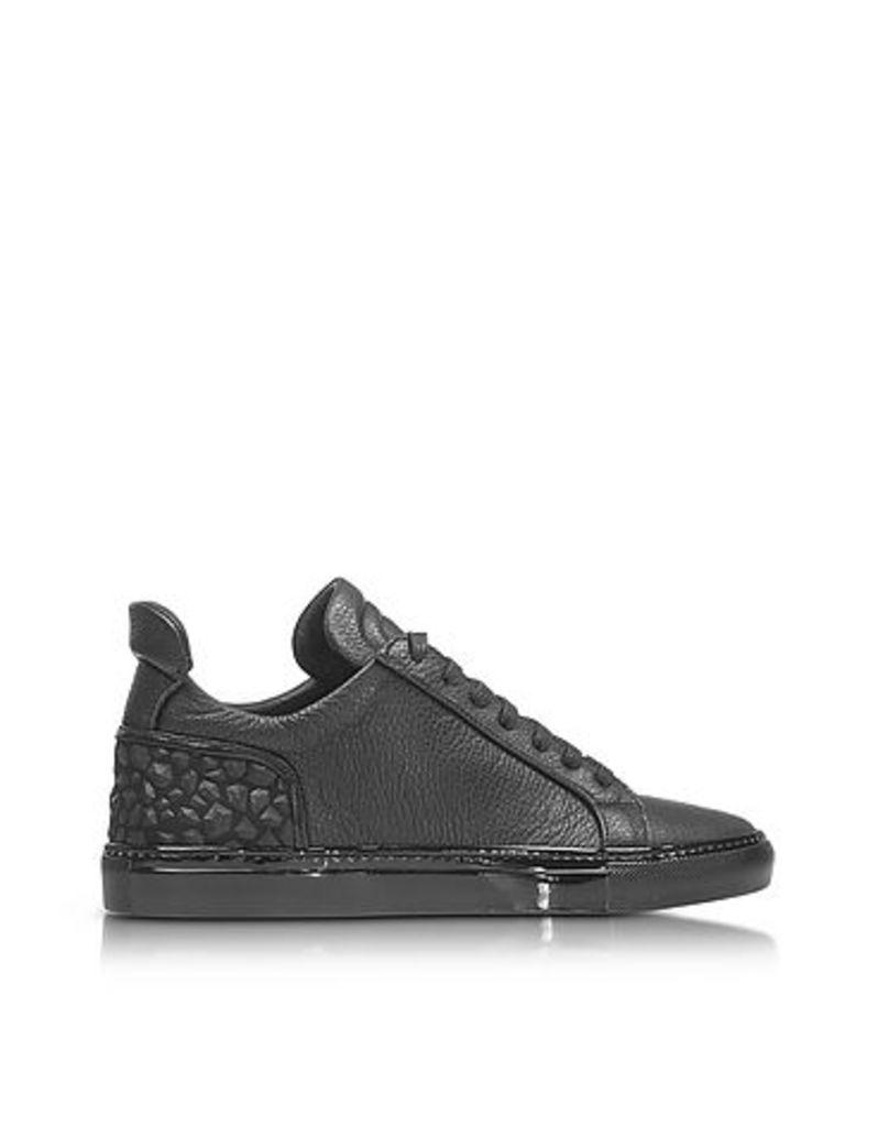 Ylati - Amalfi Low 2.0 Black Diamonds Leather Men's Sneaker