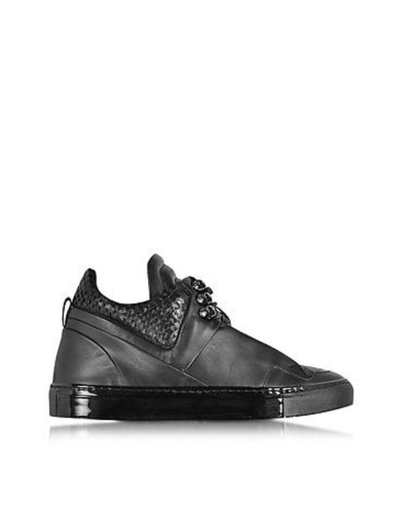 Ylati - Poseidon Upper Black Leather Men's Sneaker