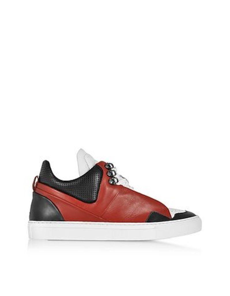 Ylati - Poseidon Upper Red & Black Leather Men's Sneaker