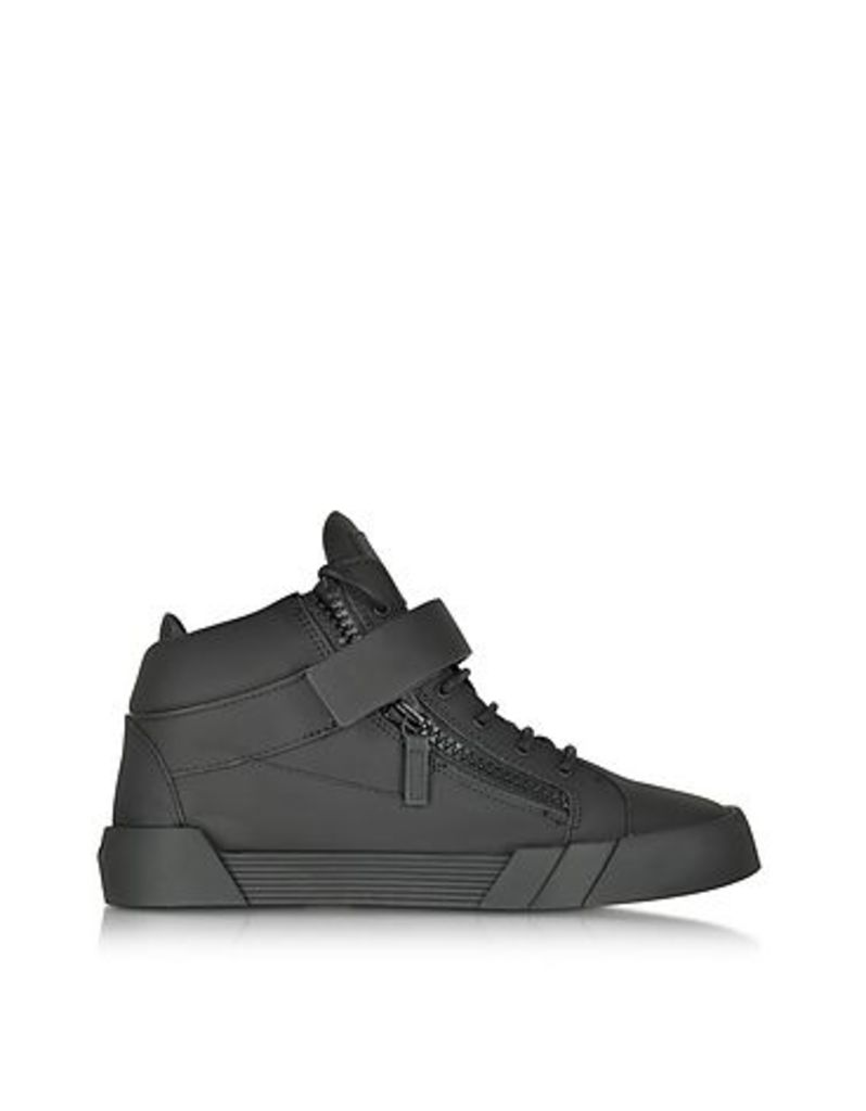 Giuseppe Zanotti - Black Leather High Top Sneaker
