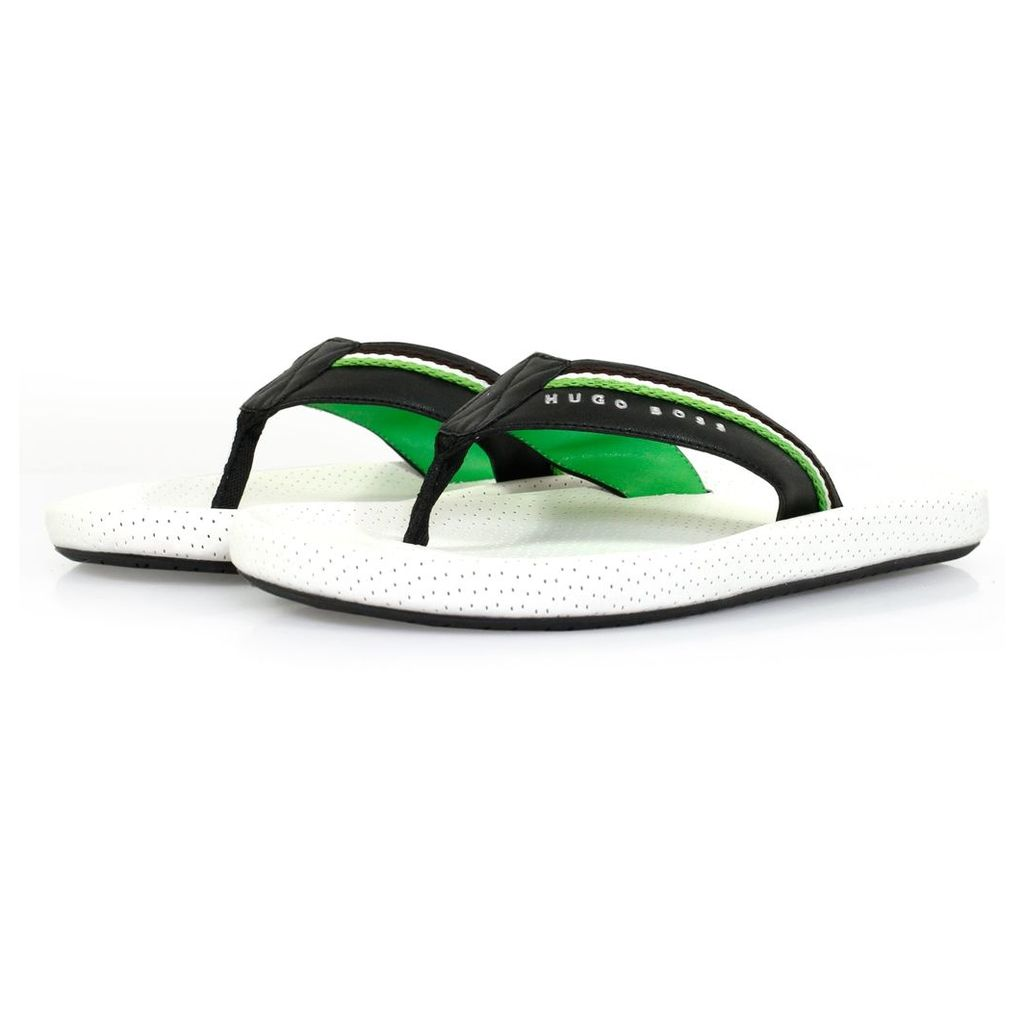 Boss Green Shoreline Fresh White Flip Flops 50311642