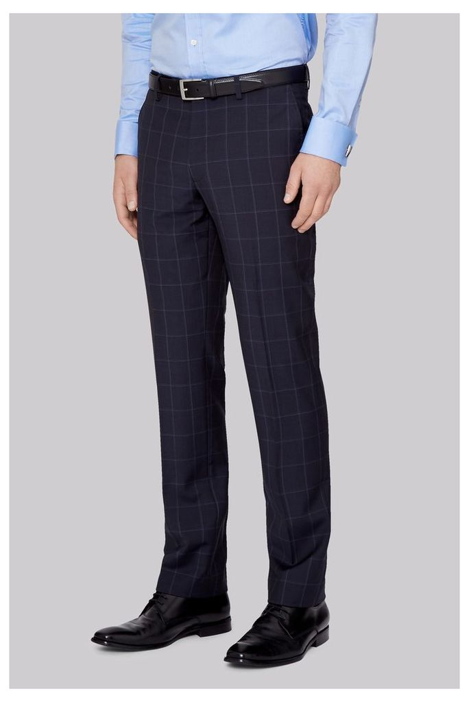 Moss 1851 Tailored Fit Ink Check Trousers