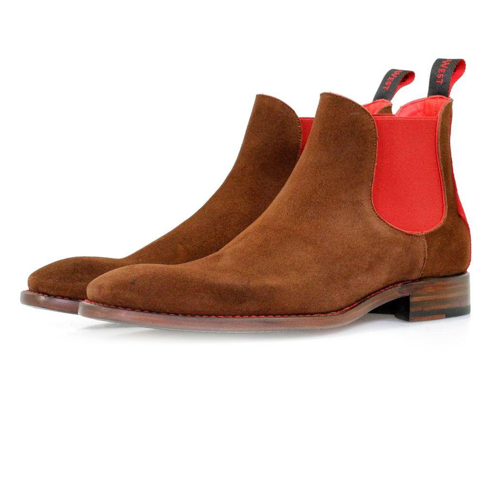 Jeffery West Horrorshow Libertine Honey Red Chelsea Boots