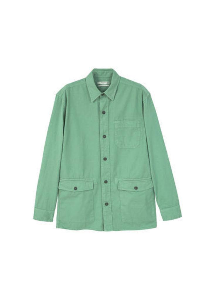 Regular-fit chest-pocket shirt