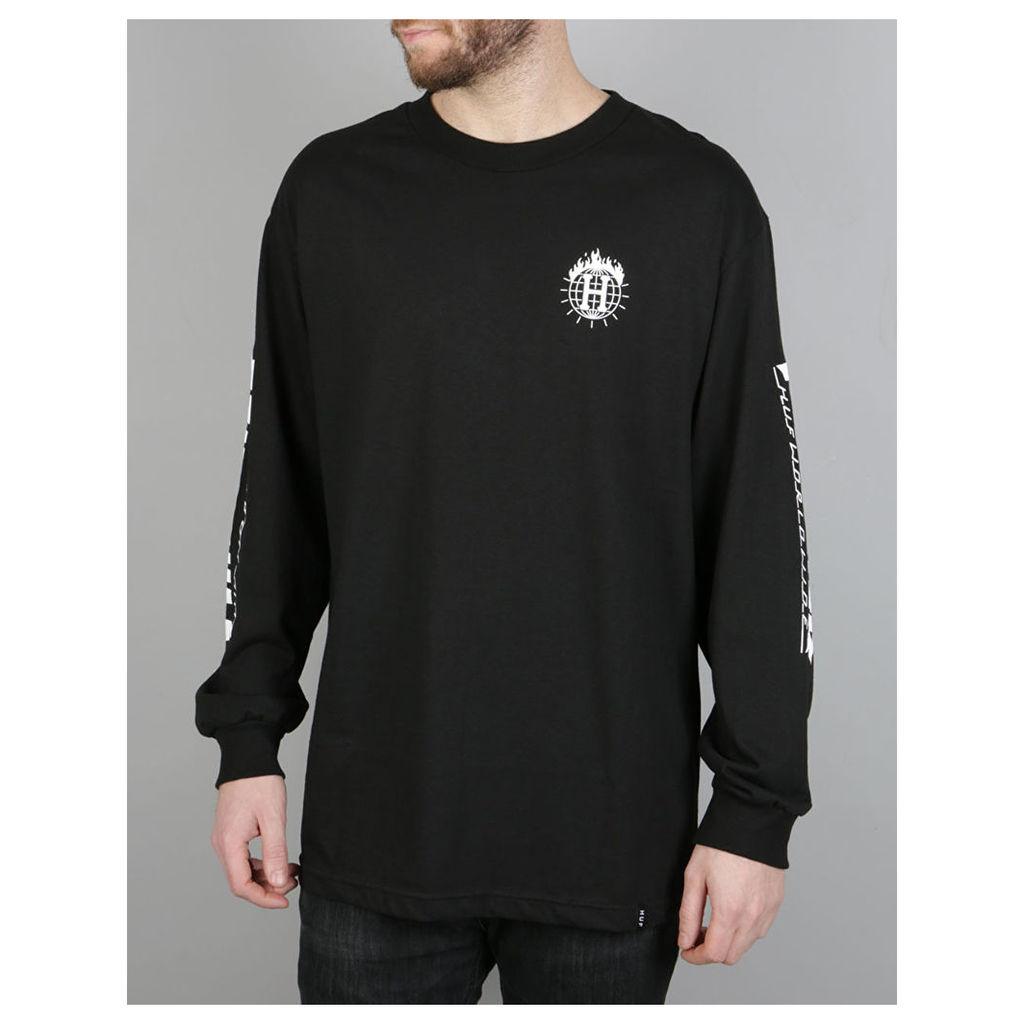 HUF x Thrasher TDS L/S T-Shirt - Black (S)