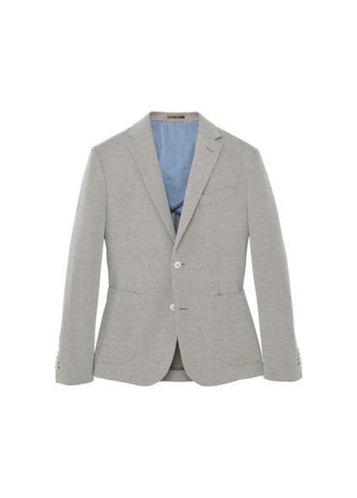 Bird's eye suit blazer