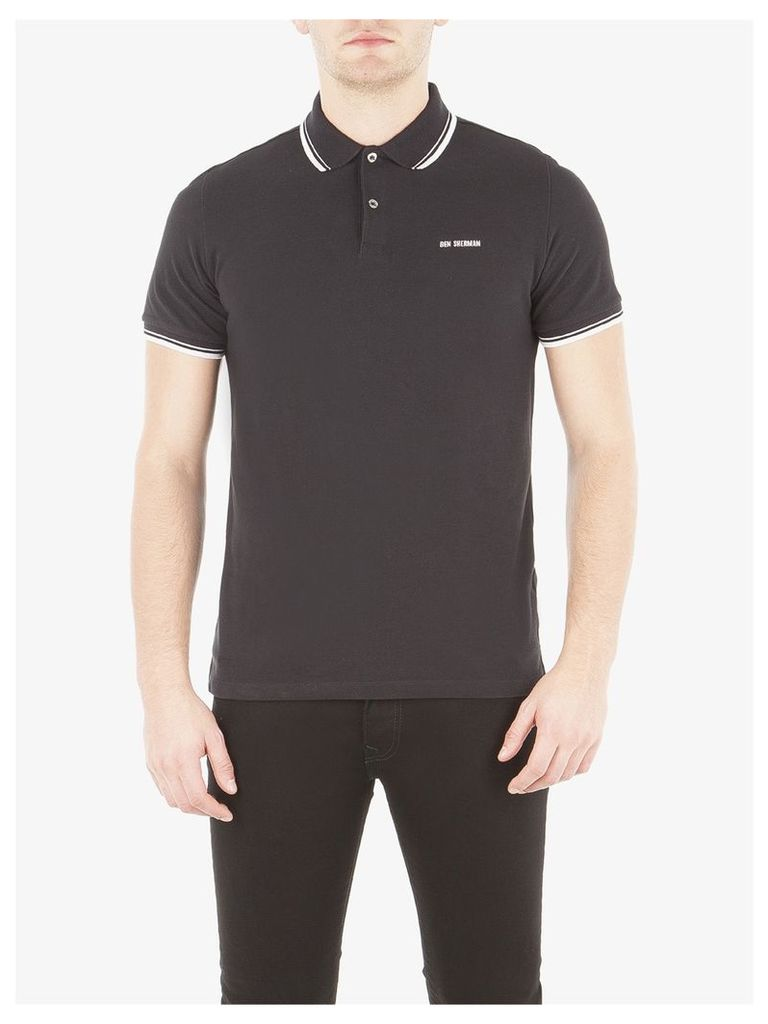 Block Font Pique Polo Shirt XXXL True Black