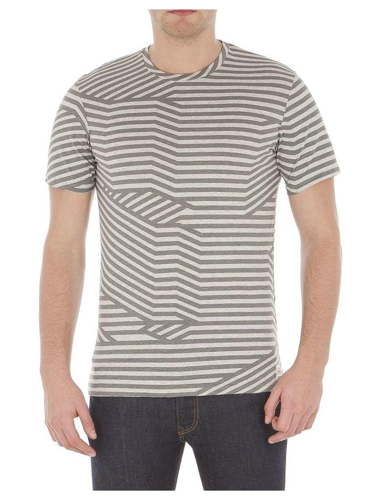 Splice Graphic Stripe T-Shirt Med EM8 Light Ash Marl