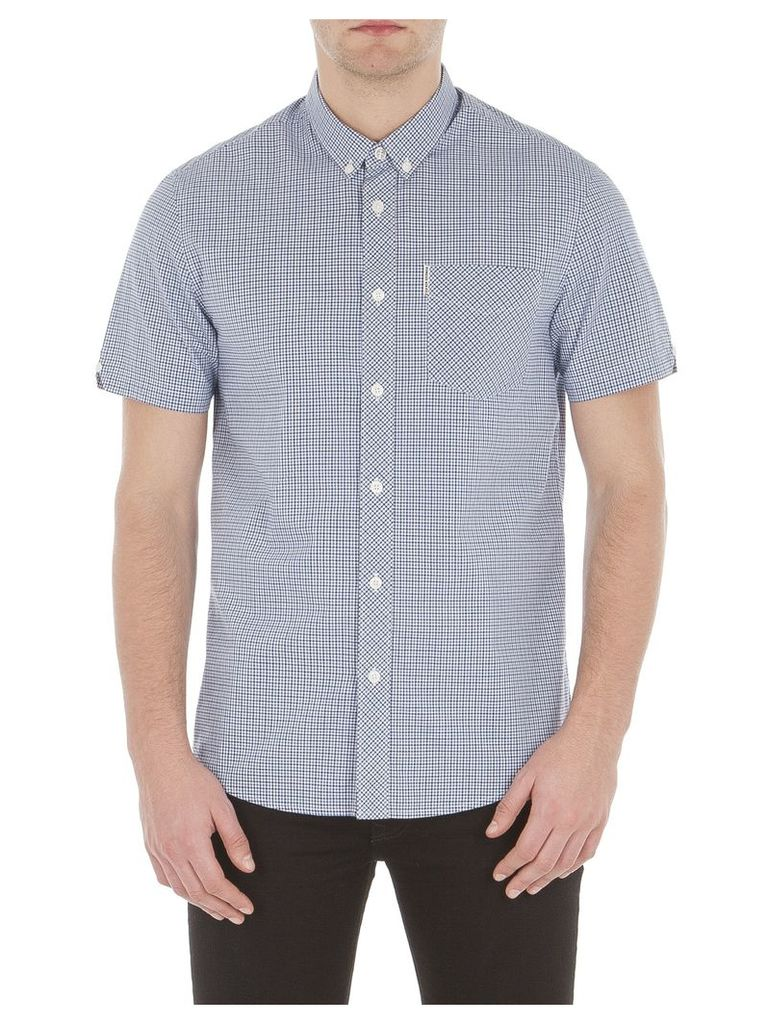 Short Sleeve Mini House Gingham Shirt XXS D88 Directoire Blue