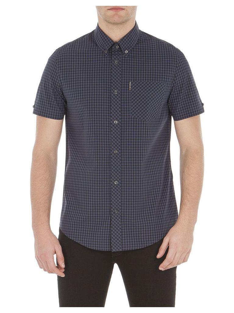 Short Sleeve Core Gingham Shirt XXS C97 Phantom