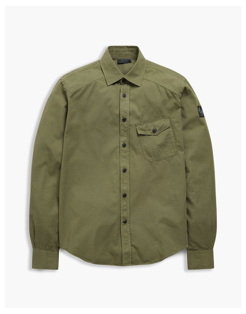 Belstaff Steadway Long Sleeve Shirt Military Green